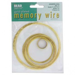 Memory wire lajitelma, kullattu