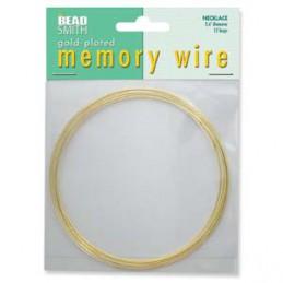 Memory wire, kaulakorukoko 91 mm, kullattu (12 kieppiä)
