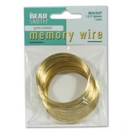 Memory wire, rannekorukoko 45 mm, kullattu (n. 80 kieppiä)