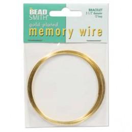 Memory wire, rannekorukoko 64 mm, kullattu (12 kieppiä)