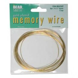 Memory wire, ovaali rannekorukoko 61 x 79 mm, kullattu