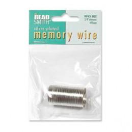 Memory wire, sormuskoko 19 mm, hopeoitu