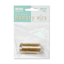Memory wire, sormuskoko 19 mm, kullattu