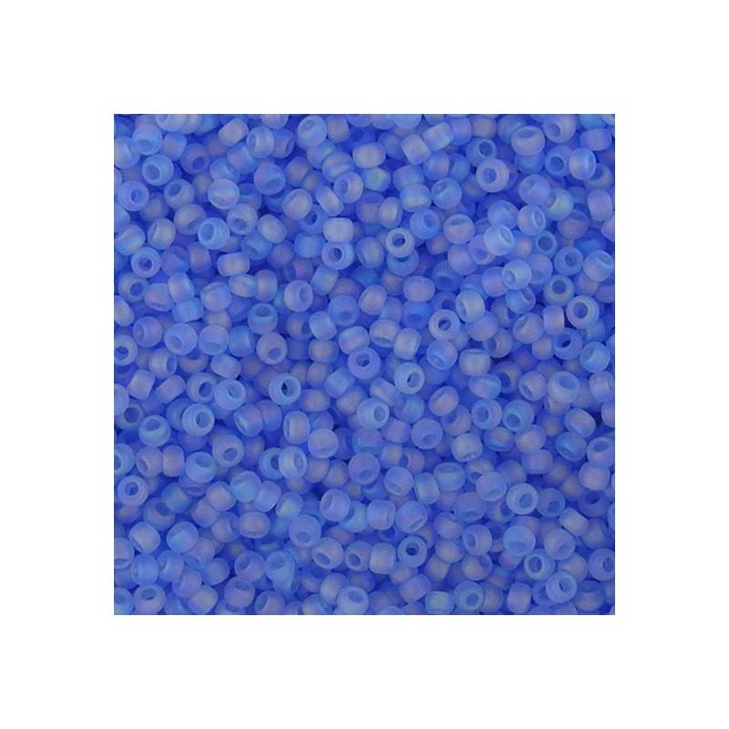 Toho pyöreä siemenhelmi 11/0, kirkas huurrettu vaalea safiiri sateenkaari