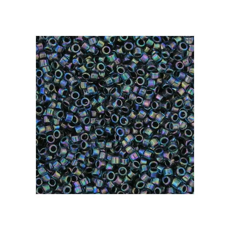 Toho Treasure 12/0, sisältävärjätty vedensininen sateenkaari sisävärinä musta