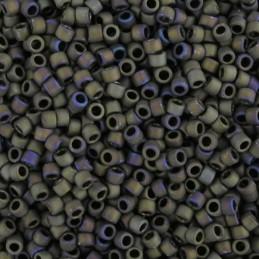 Toho Treasure 12/0, matta ruskea iris