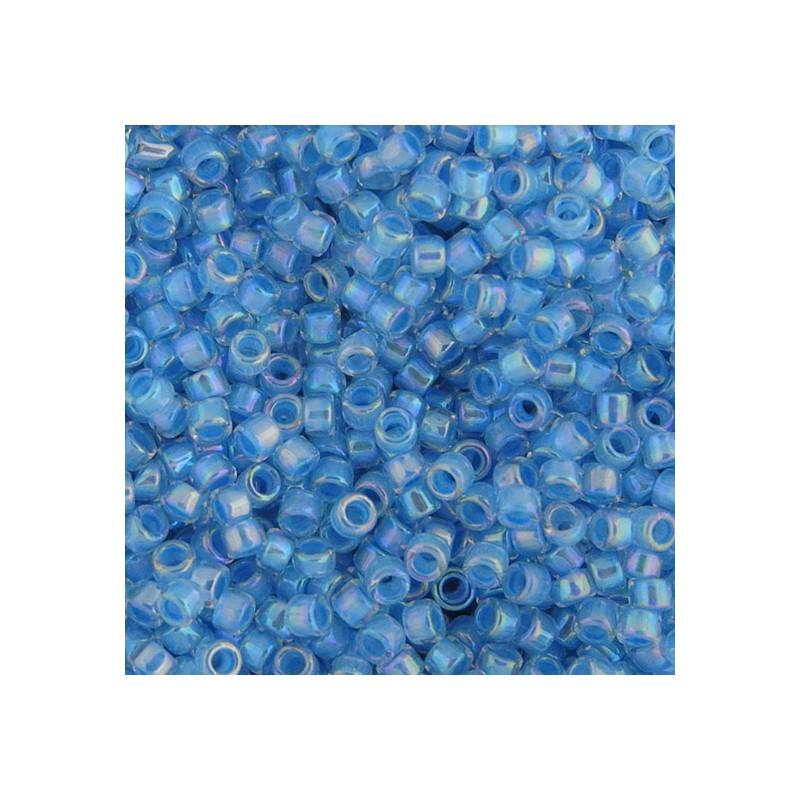 Toho Treasure 12/0, sisältävärjätty kirkas sateenkaari sisävärinä siniturkoosi