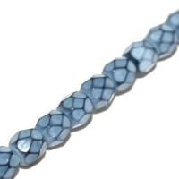 Lasihelmet - Fasettihiotut - Pyöreät 4 mm - Snake