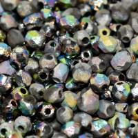 Lasihelmet - Fasettihiotut - Pyöreät 4 mm - Etsattu